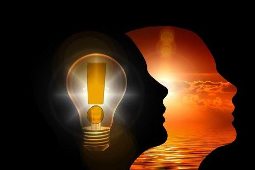 LIght bulb in head