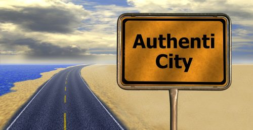 Image of street sign which reads 'AuthentiCity' by Gerd Altmann from Pixabay