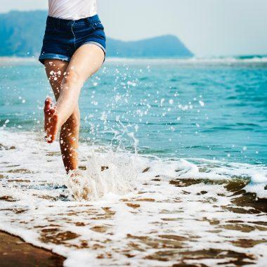 Backwash on the beach